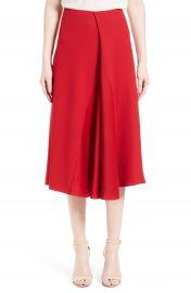 Victoria Beckham Satin Crepe Godet Skirt at Nordstrom
