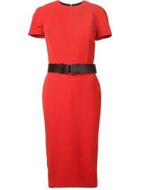 Victoria Beckham Short Sleeve Belted Dress - August Pfand252ller at Farfetch