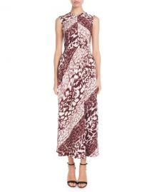 Victoria Beckham Sleeveless Leopard-Print A-Line Maxi Dress at Neiman Marcus