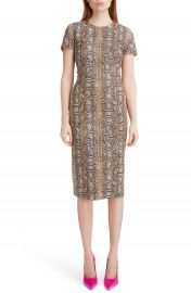 Victoria Beckham Snake Jacquard Sheath Dress   Nordstrom at Nordstrom