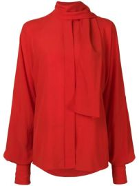 Victoria Beckham Tie Neck Blouse  - Farfetch at Farfetch