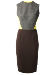 Victoria Beckham Tri-colour Dress - Gallery at Farfetch