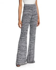 Victoria Victoria Beckham Marled Split Flare Pull-On Trousers at Neiman Marcus