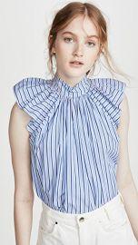 Victoria Victoria Beckham Ruched Shoulder Sleeveless Top at Shopbop