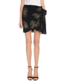 Victoria Victoria Beckham Side-Tie Metallic Fireworks-Jacquard Mini Skirt at Neiman Marcus