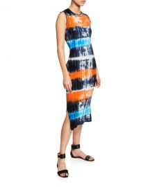 Victoria Victoria Beckham Tie-Dye Ribbed Knit Midi Dress at Neiman Marcus