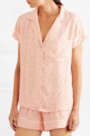 Victoria printed voile pajama set at Net A Porter