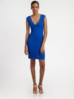 Victoria's blue dress by Catherine Malandrino at Saks Fifth Avenue