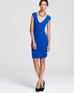 Victorias cobalt blue dress at Bloomingdales