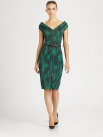 Victoria's green dress at Saks Fifth Avenue
