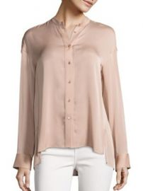 Vince - Solid Pintuck Blouse at Saks Fifth Avenue