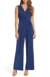 Vince Camuto Faux Wrap Jersey Jumpsuit  Regular  amp  Petite at Nordstrom