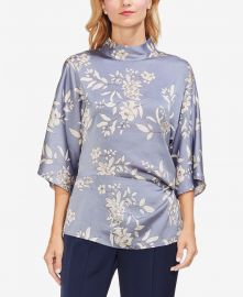 Vince Camuto Floral-Print Mock-Neck Top Women -  Tops - Macy s at Macys