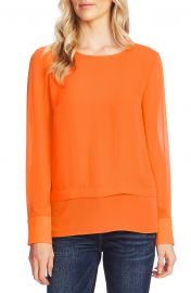 Vince Camuto Layered Rumple Georgette Top   Nordstrom at Nordstrom