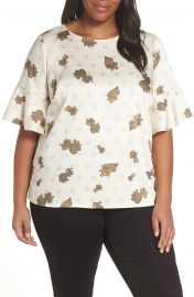 27a1ead9d74c Vince Camuto Paisley Elbow Sleeve Top Plus Size Nordstrom at Nordstrom