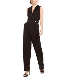 Vince Camuto Sleeveless Tuxedo Jumpsuit   Reviews - Pants   Leggings - Women - Macy s at Macys