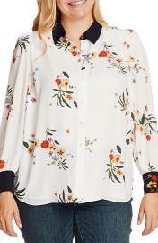 Vince Camuto Surreal Garden Button Up Shirt  Plus Size    Nordstrom at Nordstrom