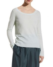 Vince Double Scoop-Neck Cashmere Top at Neiman Marcus