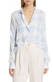 Vince Heathered Plaid Top   Nordstrom at Nordstrom