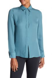 Vince Hi Lo Silk Blouse at Nordstrom Rack