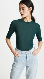 Vince Ribbed Sweater Tee at Shopbop