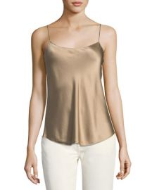 Vince Satin Scalloped Camisole Top at Neiman Marcus