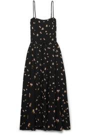 Vince - Floral-print crinkled-crepe midi dress at Net A Porter