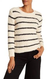 Vince   Fuzzy Striped Crew Neck Sweater   Nordstrom Rack at Nordstrom Rack