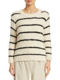 Vince - Fuzzy Striped Sweater at Saks Off 5th
