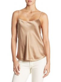 Vince - Scallop Silk Chemise at Saks Off 5th