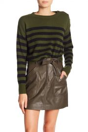 Vince   Shoulder Button Striped Cashmere Sweater   Nordstrom Rack at Nordstrom Rack