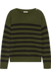 Vince   Striped cashmere sweater at Net A Porter