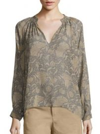 Vince - Vintage Floral Silk Blouse at Saks Off 5th