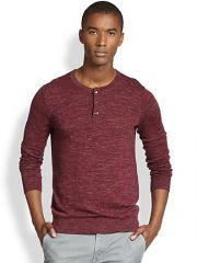 Vince - WoolLinen Slub Henley at Saks Fifth Avenue