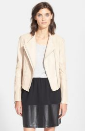 Vince Asymmetric Leather Jacket at Nordstrom