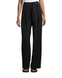 Vince Belted Wide-Leg Pants at Neiman Marcus
