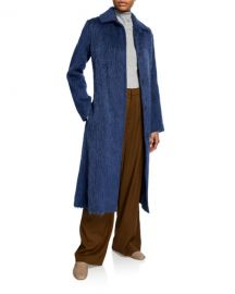 Vince Belted Wool-Blend Slim Coat at Neiman Marcus
