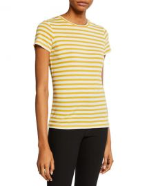 Vince Bengal Stripe Essential Cotton T-Shirt at Neiman Marcus