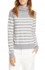 Vince Breton Stripe Turtleneck Cashmere Sweater   Nordstrom at Nordstrom