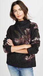 Vince Brushed Floral Funnel Neck Sweater at Shopbop