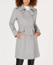 Vince Camuto  Double-Breasted Peacoat at Macys