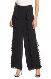 Vince Camuto Chiffon Ruffle Wide Leg Pants   Nordstrom at Nordstrom