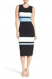 Vince Camuto Color Block Midi Dress  Regular   Petite at Nordstrom