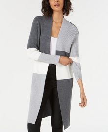Vince Camuto Colorblocked Open-Front Cardigan Women -  Sweaters - Macy s at Macys