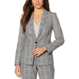 Vince Camuto Colorful Glen Plaid Blazer at HSN