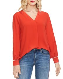 Vince Camuto Contrast Piping Blouse at Macys