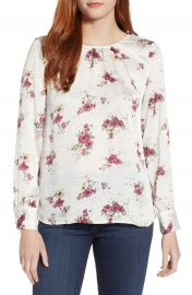 Vince Camuto Delicate Bouquet Mixed Media Top at Nordstrom