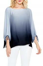 Vince Camuto Echo Ombr   Tie Cuff Blouse  Regular  amp  Petite    Nordstrom at Nordstrom