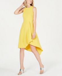 Vince Camuto High-Low A-Line Dress   Reviews - Dresses - Women - Macy s at Macys
