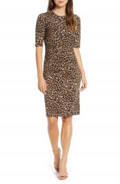Vince Camuto Leopard Print Body-Con Dress   Nordstrom at Nordstrom